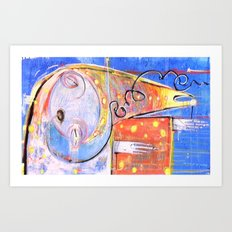 the incident in which you wen the wrong way, the fool knew better Art Print