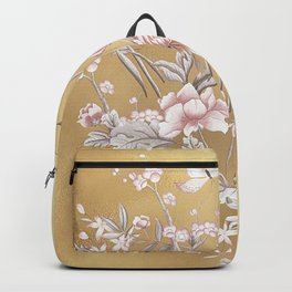 Chinoiserie Gold Backpack
