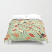 fall Duvet Covers featuring fall by freshinkstain