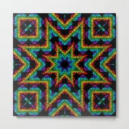Kaleidoscopic Stained Glass Metal Print