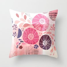 I Am Going To Daydream Today Throw Pillow