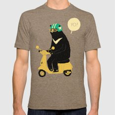scooter bear green Tri-Coffee MEDIUM Mens Fitted Tee
