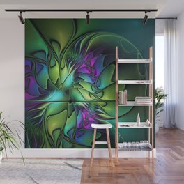 Colorful And Abstract Fractal Fantasy Wall Mural