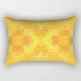 """Honey sun"" kaleidoscopic design Rectangular Pillow"