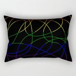 Abstract Threads – LGBTQ Pride Flag Rectangular Pillow