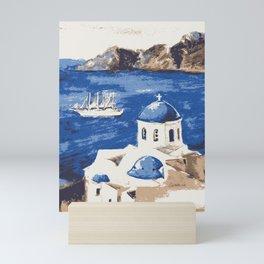 Santorini Greece Mini Art Print