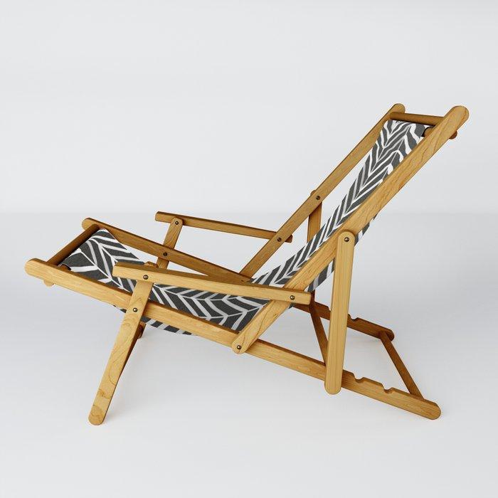 Herringbone – Black & White Sling Chair