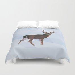 Reindeer in a winterwonderland Duvet Cover