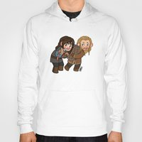 kili Hoodies featuring Fili and Kili by Hattie Hedgehog