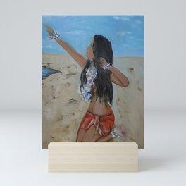 Hula Girl in a Sarong Mini Art Print