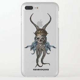 Octopus King Clear iPhone Case