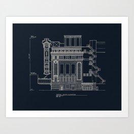 Chicago Theatre Blueprint Art Print