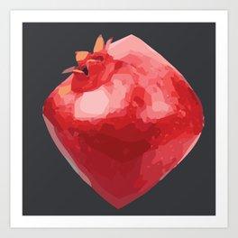 Juicy Pomegranate Art Print