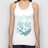 nautical Tank Tops featuring Nautical Watercolor by joeyj