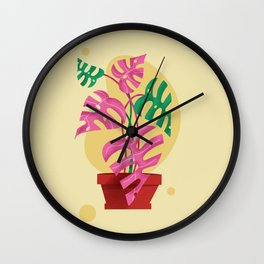 Plant Love Wall Clock