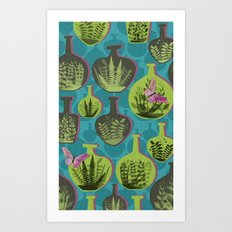 Green Glass Art Print