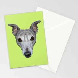 Whippet // Green Stationery Cards