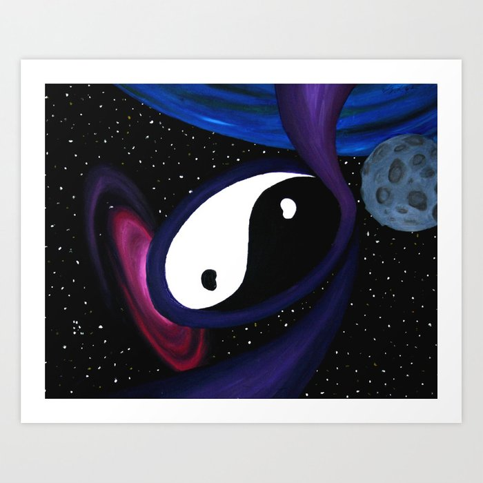 Yin Yang Cosmos Art Print