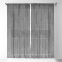 Sombre ombre black flames gradient Sheer Curtain