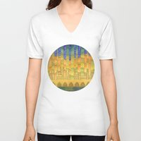 israel V-neck T-shirts featuring Israel by Eugene Frost