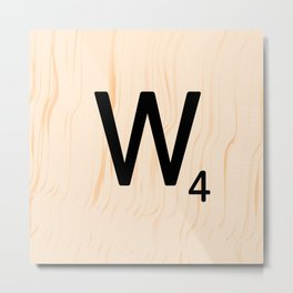 Scrabble Letter W - Scrabble Art and Apparel Metal Print