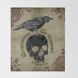 No mourners no funerals - Six of Crows Throw Blanket