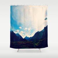 alaska Shower Curtains featuring Alaska  by Julia Blanchette