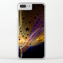 Ethereal Flame with Stars Clear iPhone Case