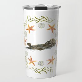 Sea Otter Mandala 1 - Watercolor Travel Mug