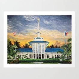 Papeete Tahiti LDS Temple Art Print