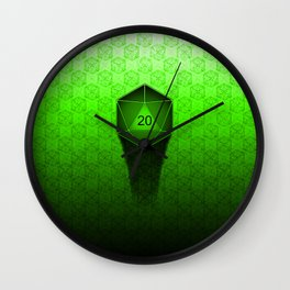 D20 All I Do Is Crit!  Green Ombre Wall Clock