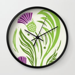 Thistle - Color Wall Clock