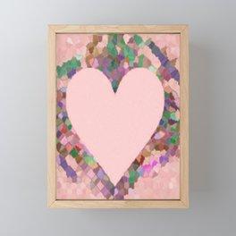 Old Fashioned Pink Heart Framed Mini Art Print