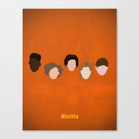 misfits Canvas Prints featuring Minimalism Misfits  by Mercedes Lopez