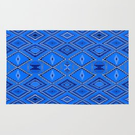 Blue Navajo inspired pattern. Rug