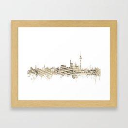 Berlin Germany Skyline Sheet Music Cityscape Framed Art Print