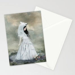 sympathy of wolves Stationery Cards