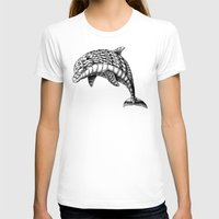 ornate T-shirts featuring Ornate Dolphin by BIOWORKZ