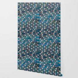School of Fish Pattern Wallpaper
