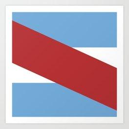 Flag of Entre rios Art Print