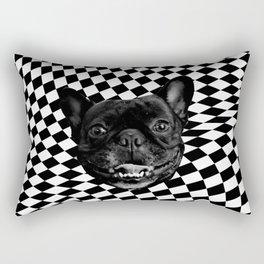 Crazy Frenchie Rectangular Pillow