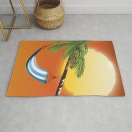 Hammock & Setting sun Rug