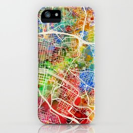 Glasgow Scotland City Street Map iPhone Case