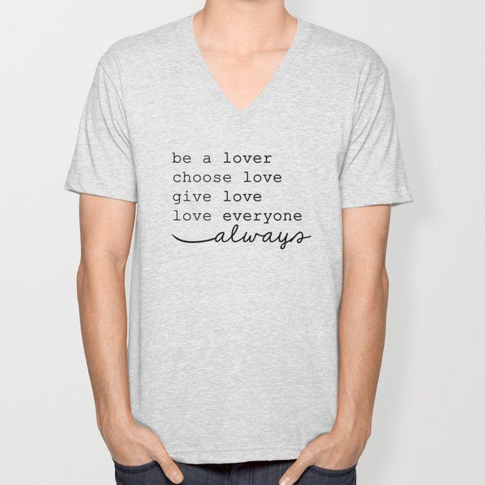 """choose love"" harry styles Unisex V-Neck"