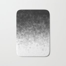 Disappearing Fog - Black and White Gradient Bath Mat