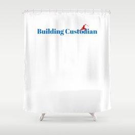 Building Custodian Ninja in Action Shower Curtain