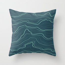 Abstract tree rings or rock layers or sea waves  Throw Pillow