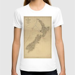 Search Map For Missing Aviators - New Zeeland T-shirt