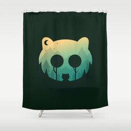 Two Little Bears Shower Curtain