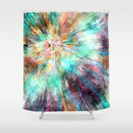 Colorful Tie Dye Shower Curtain
